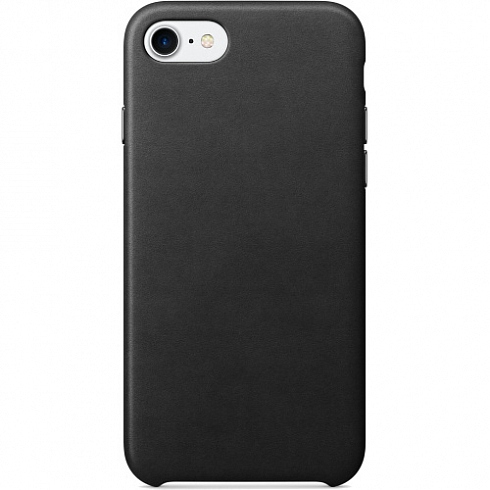 Кожаный чехол YablukCase для iPhone 7 чёрный