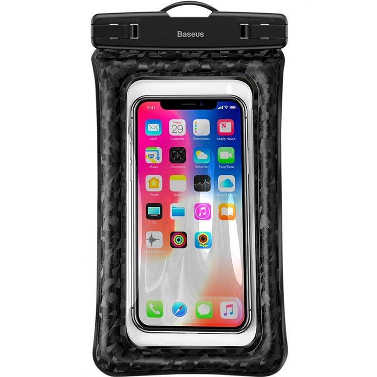 """Водонепроницаемый чехол Baseus Waterproof Bag для смартфонов 5.5"""" чёрный"""