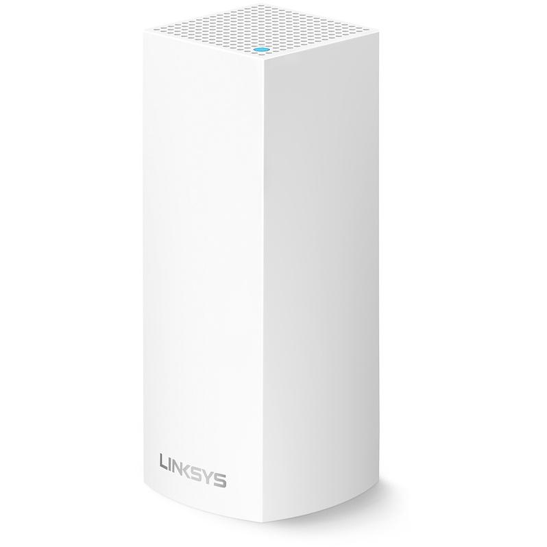 Роутер Linksys Velop Intelligent Tri-Band Mesh Wi-Fi System (1-pack) белый (AC2200)