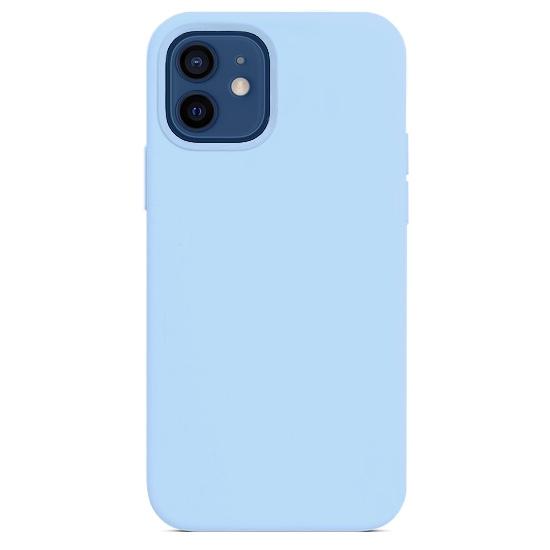 Силиконовый чехол YablukCase Silicone Case для iPhone 12 Pro/ 12 голубой