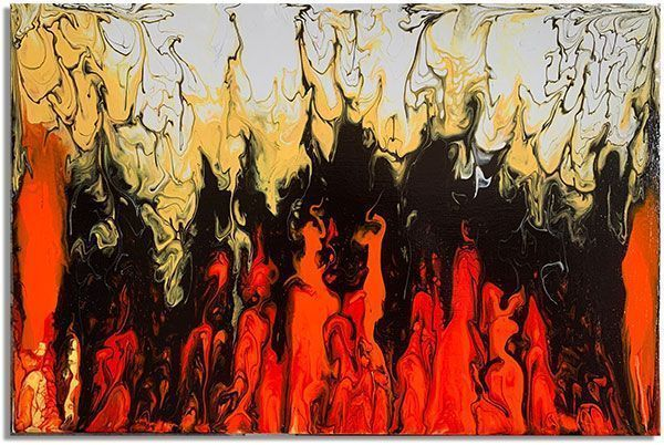 Интерьерная картина FluidArt (40 х 60 см) Fireplace
