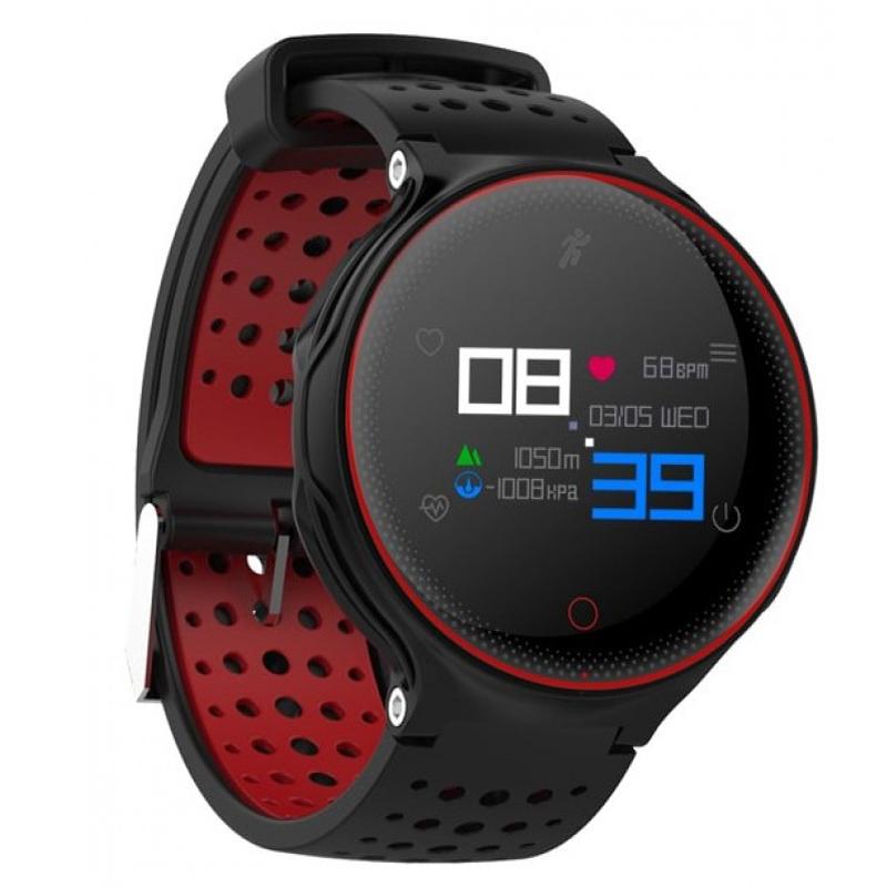 Умные часы Prolike PLSW1000C с измерением давления красные