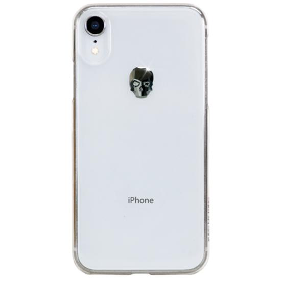 Чехол Bling My Thing Treasure Swarovski для iPhone XR Hematite Skull прозрачный (ipxr-tr-cl-jet)