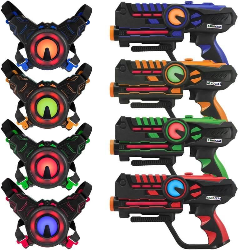Игровой набор для четырёх игроков Лазертаг ArmoGear Laser Tag
