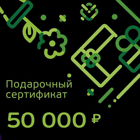 Подарочный сертификат номиналом 50 000 рублей для Него