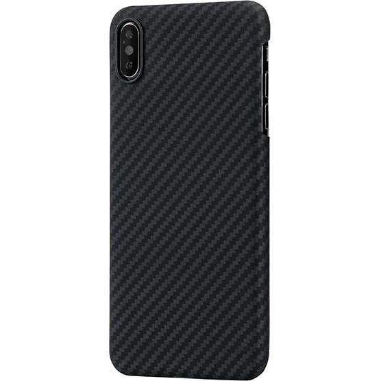 Чехол King Case Aramid Hard для iPhone Xs Max чёрный карбон