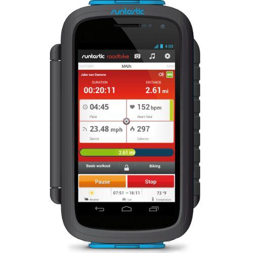 Велосипедный держатель Runtastic Bike Case для Android смартфонов черный
