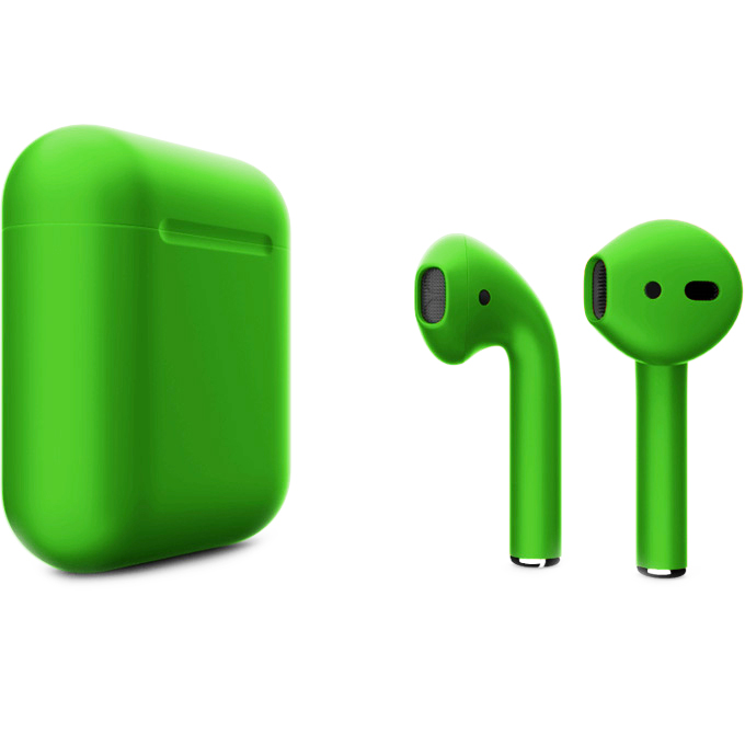 Беспроводные наушники Apple AirPods 2 (второе поколение) Custom Edition зелёные матовые