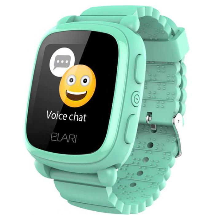 Детские часы-телефон Elari KidPhone 2 c GPS/LBS-трекером зеленые