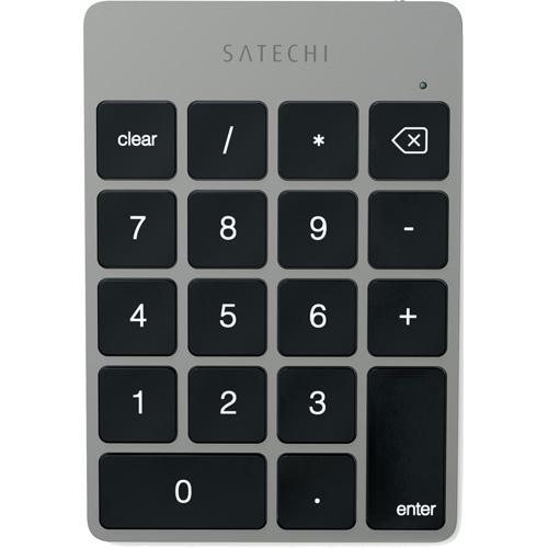 Беспроводная клавиатура Satechi Slim Rechargeable Aluminum Bluetooth Keypad серый космос