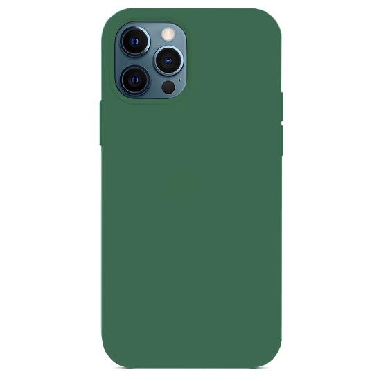Силиконовый чехол YablukCase Silicone Case для iPhone 12 Pro Max темно зеленый