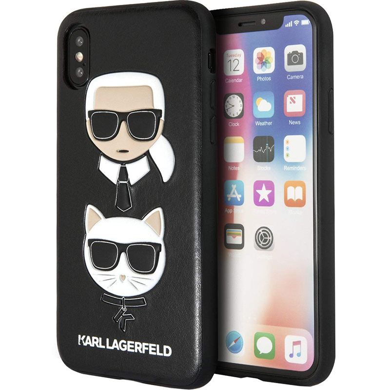 best service 80c8d 4f72e Чехол Karl Lagerfeld «Karl and Choupette» Hard Case для iPhone Xs Max чёрный
