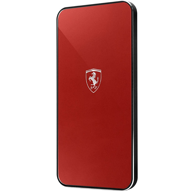 Беспроводное зарядное устройство Ferrari Wireless Charger красное