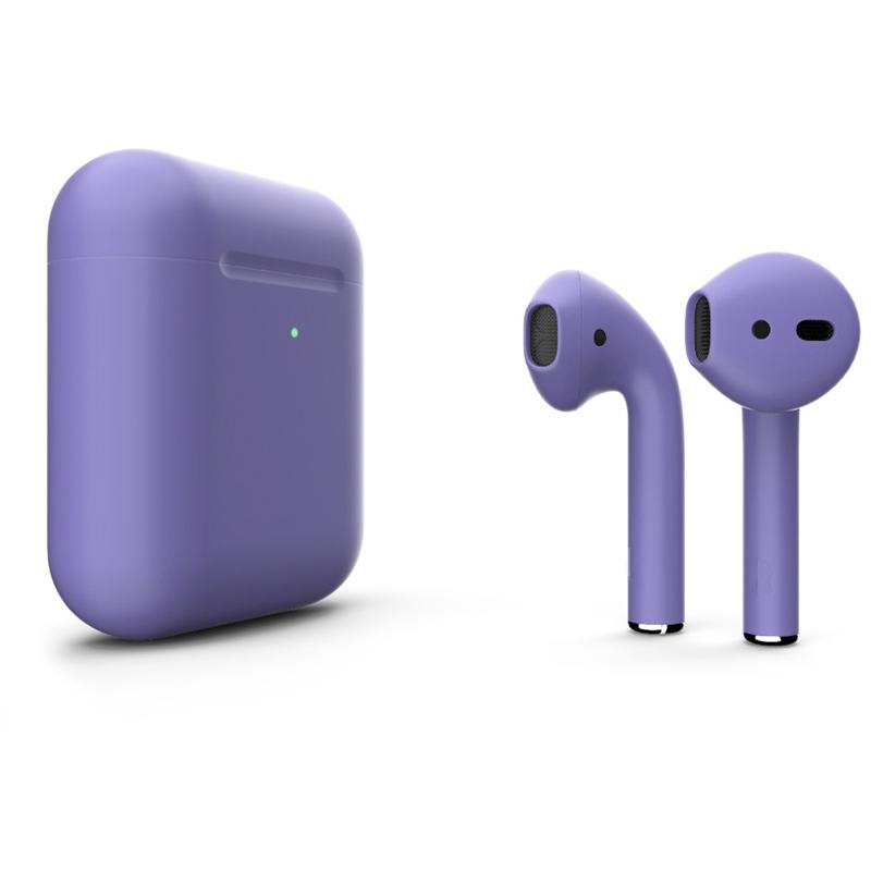 Беспроводные наушники Apple AirPods 2 (с функцией беспроводной зарядки) Custom Edition фиолетовые матовые
