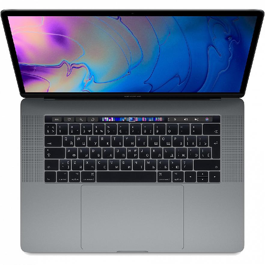 "Ноутбук Apple MacBook Pro 15"" Touch Bar (2019) Touch ID, Intel Core i9 2.3 ГГц, DDR4 16 Гб, SSD 512 Гб, Radeon Pro 560X (MV912) серый космос"