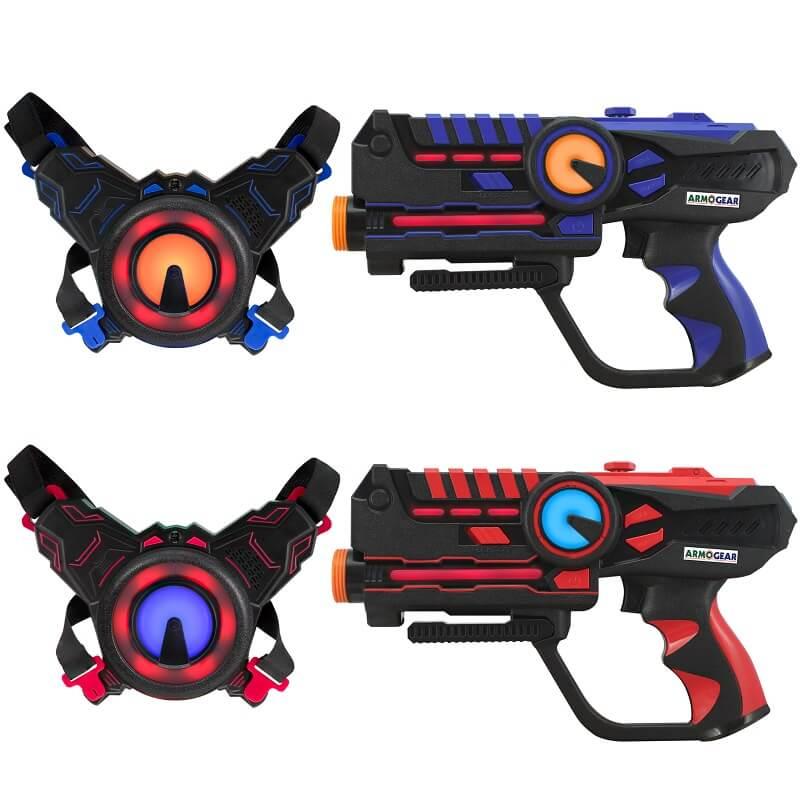 Игровой набор для двух игроков Лазертаг ArmoGear Laser Tag красный / синий