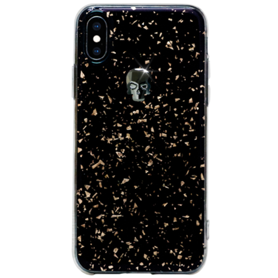 Чехол Bling My Thing Treasure Swarovski для iPhone X/Xs Hematite Skull чёрный / золотистый (ipxs-tr-bk-jet)
