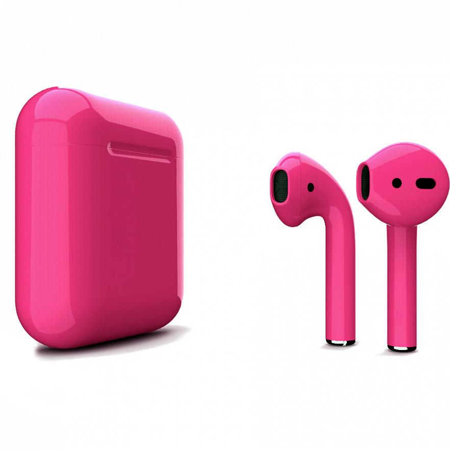 Беспроводные наушники Apple AirPods 2 (второе поколение) Custom Edition розовый глянец