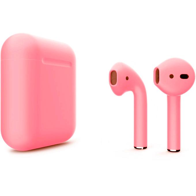 Беспроводные наушники Apple AirPods 2 (второе поколение) Custom Edition светло-розовые матовые