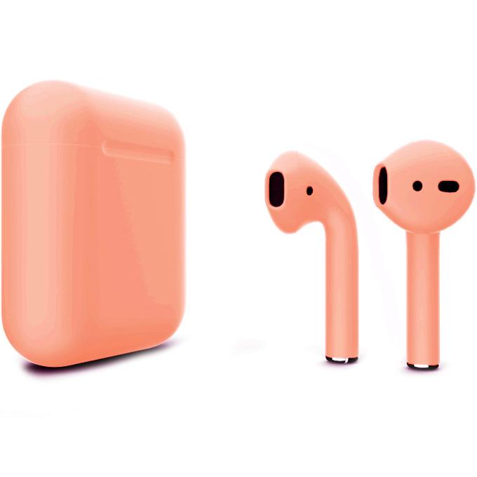 Беспроводные наушники Apple AirPods 2 (второе поколение) Custom Edition персиковые матовые