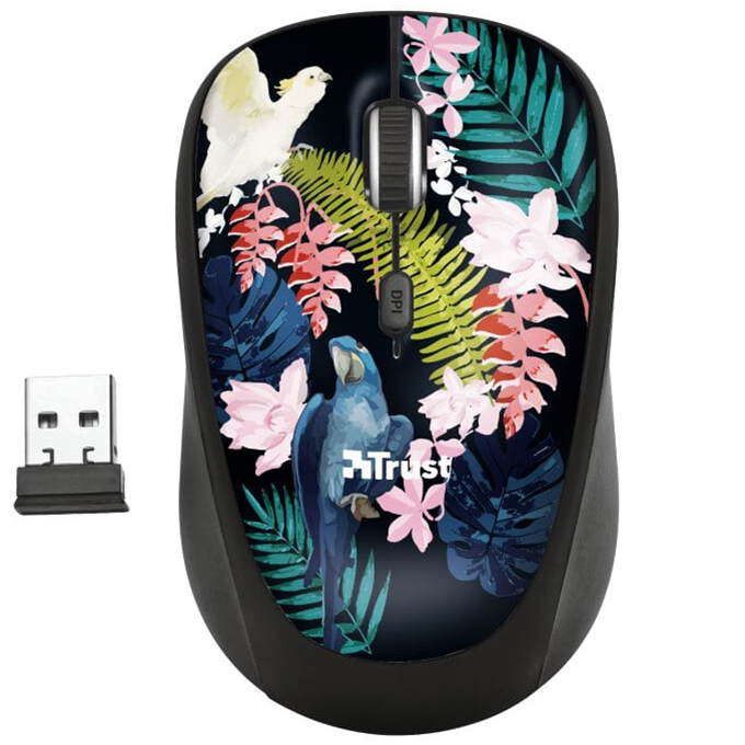 Беспроводная компьютерная мышь Trust Yvi Wireless Mouse Parrot
