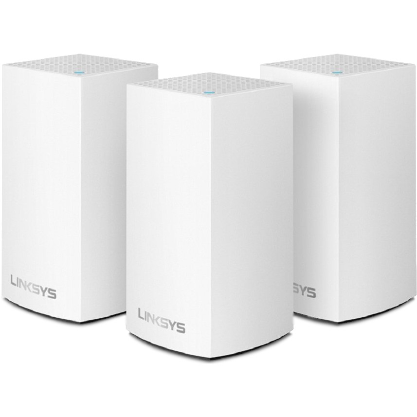 Комплект роутеров Linksys Velop Intelligent Dual-Band Mesh Wi-Fi System (3-pack) белый (AC3900)