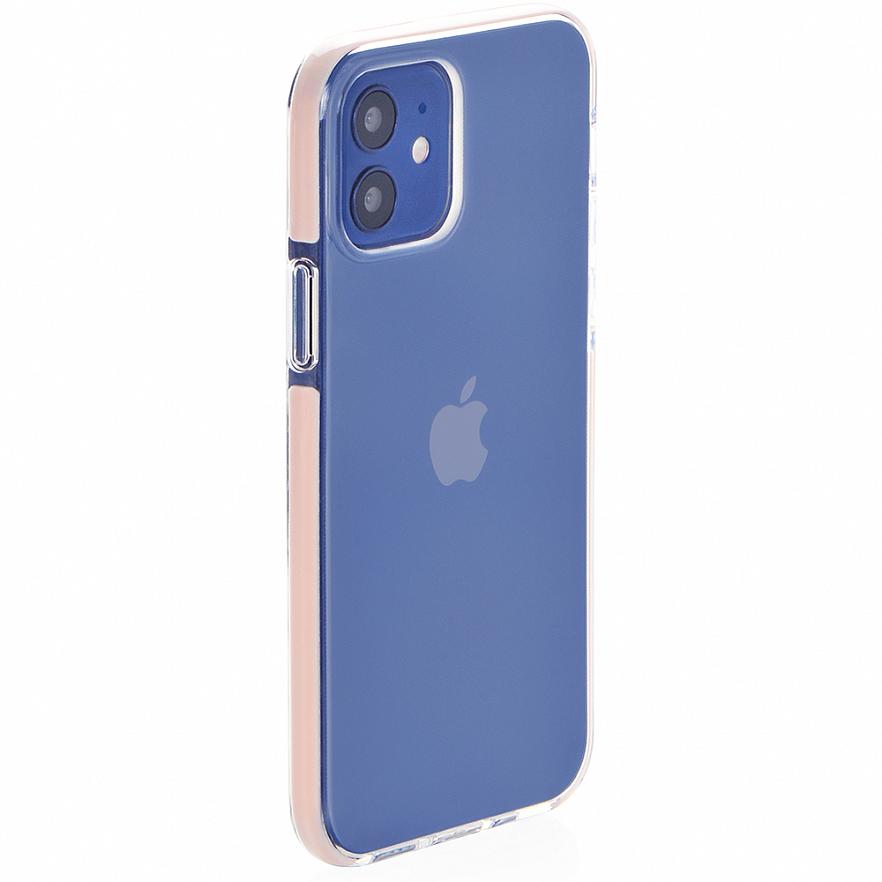 Чехол Gurdini Crystal Ice для iPhone 12 Mini розовый