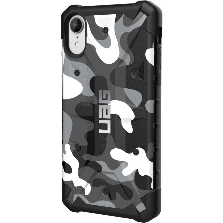 Чехол UAG Pathfinder SE Camo Series Case для iPhone Xr белый камуфляж Arctic
