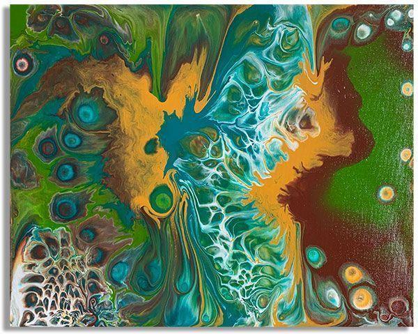 Интерьерная картина FluidArt (40 х 50 см) Lagoon