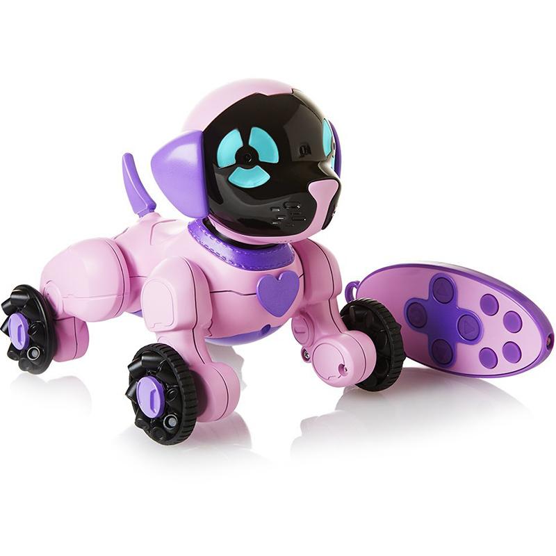 Робот собака WowWee Chippies Chippette розовый/чёрный (2804-3817)