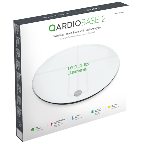 Умные весы Qardio QardioBase 2 (B200-IAW) для iOS/Android белые