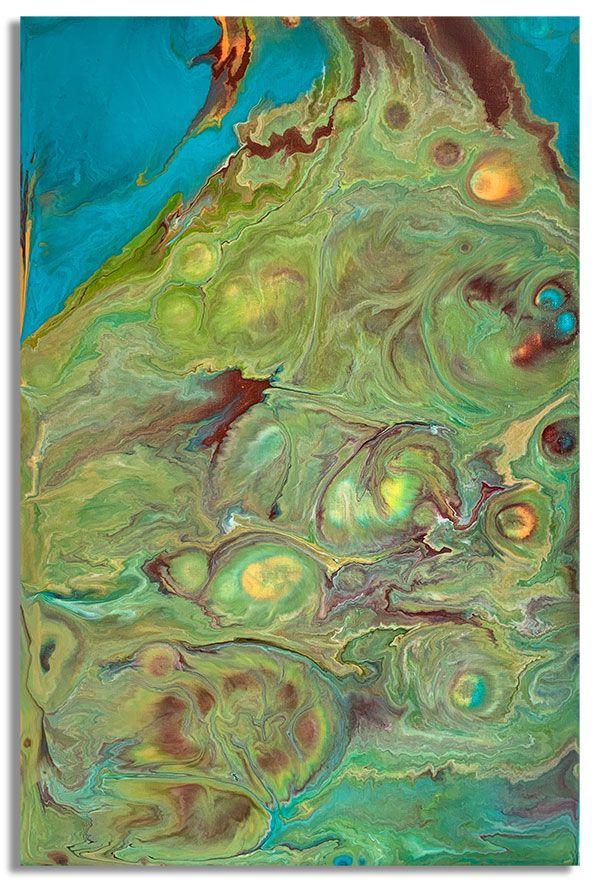 Интерьерная картина FluidArt (40 х 60 см) Yellowstone