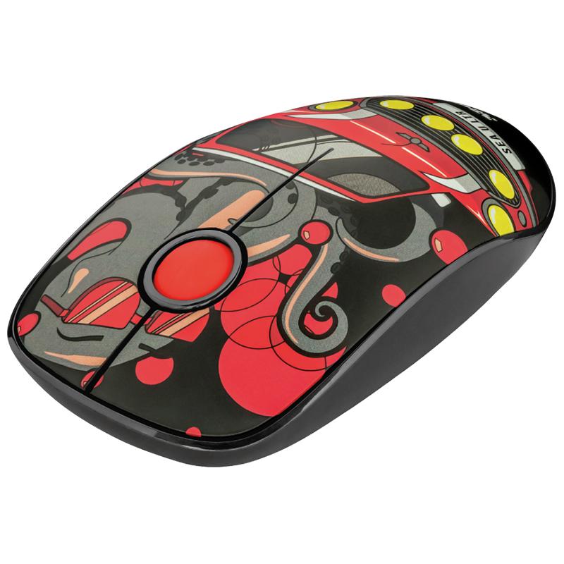 Беспроводная компьютерная бесшумная мышь Trust Sketch Silent красная