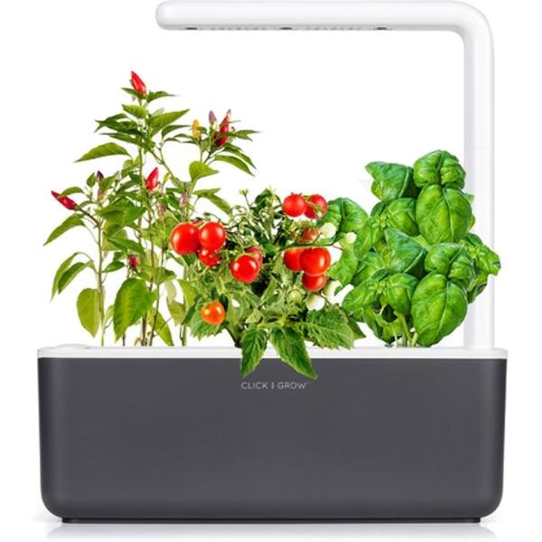 Умный сад Click and Grow Smart Garden 3 Базилик / Томаты Черри / Перец Чили (чёрная крышка)