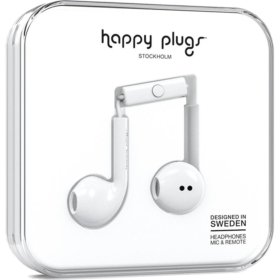Наушники Happy Plugs Earbud Plus Белые