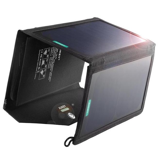 Солнечная зарядная панель Aukey Solar Charger Dual USB Port (PB-P2)