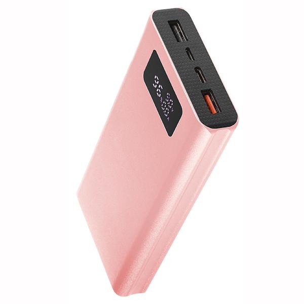 Портативный аккумулятор QUMO PowerAid QC/PD 20000 мАч розовое золото