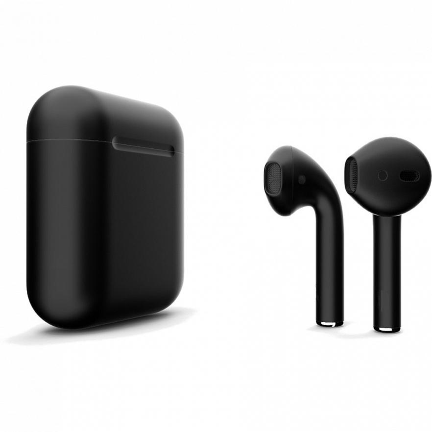 Беспроводные наушники Apple AirPods 2 (второе поколение) Custom Edition чёрные матовые