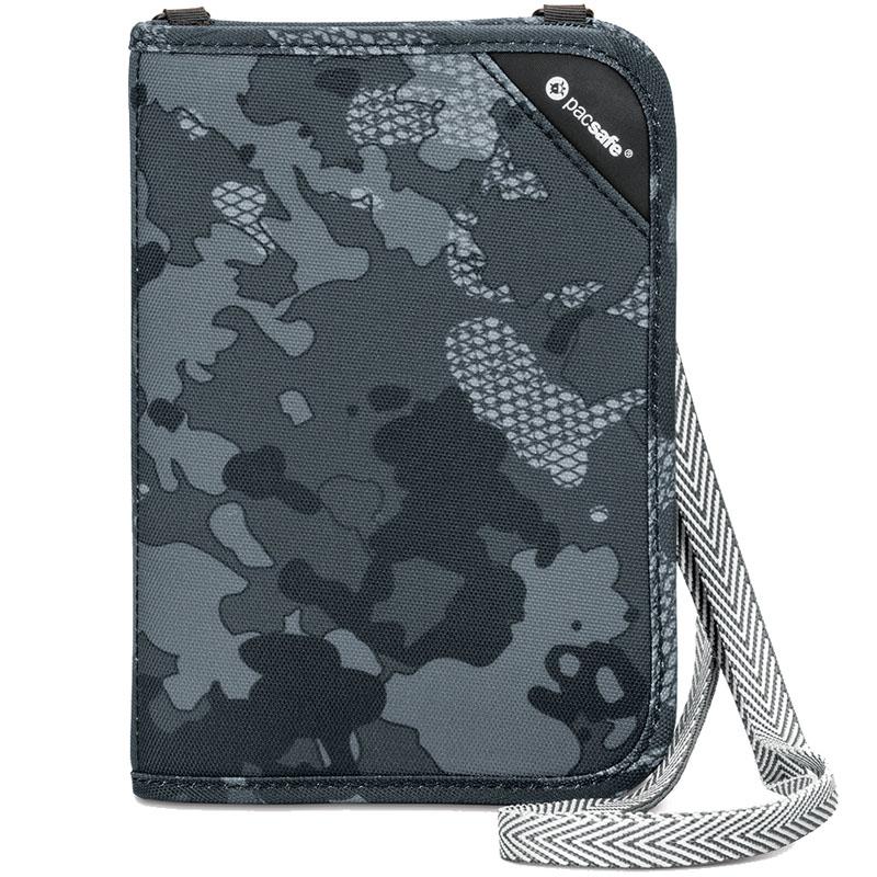 Кошелёк PacSafe RFIDsafe V150 серый камуфляж