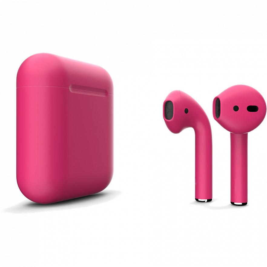 Беспроводные наушники Apple AirPods 2 (второе поколение) Custom Edition розовый матовый
