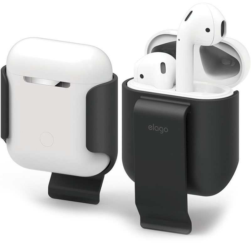 Чехол Elago Carrying Clip для AirPods чёрный