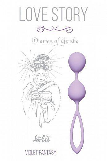 Сиреневые вагинальные шарики Diaries of a Geisha