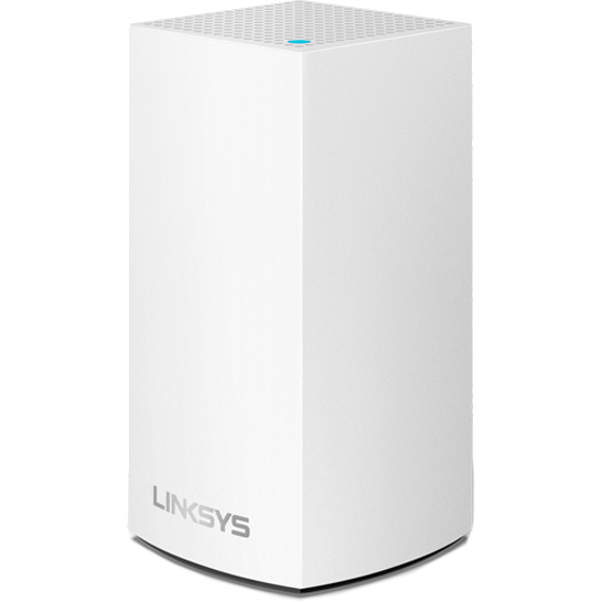 Роутер Linksys Velop Intelligent Dual-Band Mesh Wi-Fi System (1-pack) белый (AC1300)