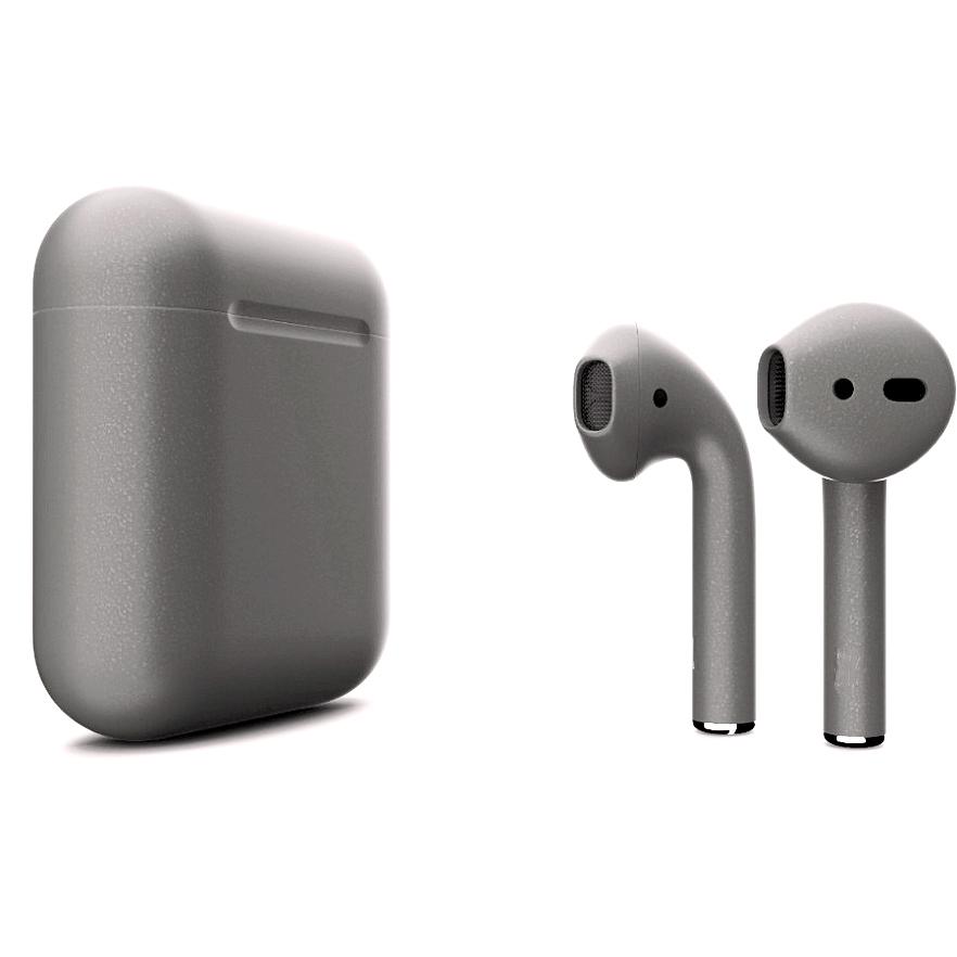 Беспроводные наушники Apple AirPods 2 (второе поколение) Custom Edition тёмно-серебристые