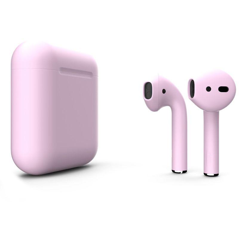 Беспроводные наушники Apple AirPods 2 (второе поколение) Custom Edition нежно-розовые матовые
