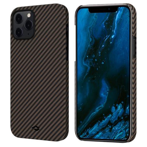 Чехол PITAKA MagEZ для iPhone 12 Pro Max Чёрный/Золотой (Twill)