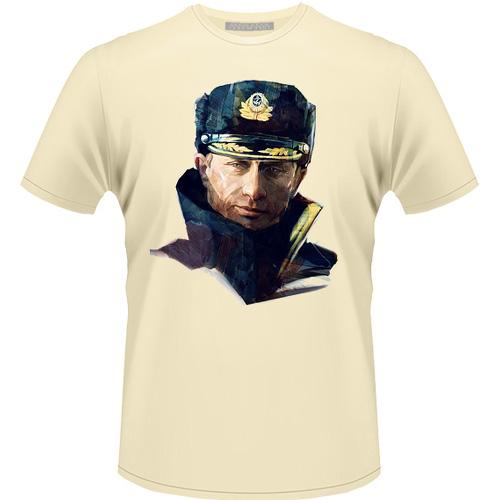 Футболка AnyaVanya Путин «Моряк в фуражке» бежевая, размер L