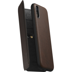 Чехол Nomad Rugged Tri-Folio Case для iPhone XR коричневый