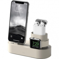 Док-станция Elago Charging Hub 3 in 1 для iPhone / Apple Watch / AirPods белая (Classic White)