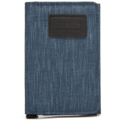 Кошелек Pacsafe RFIDsafe TEC Blocking Slim Trifold Wallet синий (Dark Denim)